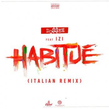 Album cover - Rington Dosseh/Izi - Habitué (Italian Remix)